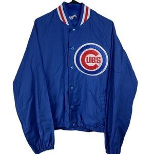 Vintage 80's Majestic M Blue Cubs thin jacket
